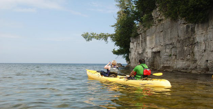 Cave Point Paddle and Pedal